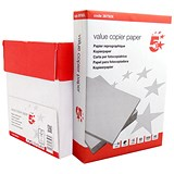 5 Star A4 Value Multifunctional Paper / White / 75gsm / Box (5 x 500 Sheets)