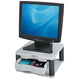 Image of Fellowes Premium Monitor Riser Plus / 21 inch 36kg Capacity / 5 Heights 118-168mm / Grey