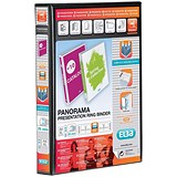 Image of Elba Panorama Presentation Ring Binder / 2 D-Ring / 40mm Spine / 25mm Capacity / A4 / Black / Pack of 6