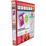 Image of Elba Panorama Presentation Ring Binder / 2 D-Ring / 40mm Spine / 25mm Capacity / A4 / Red / Pack of 6