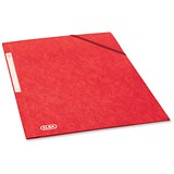 Image of Elba Eurofolio Folder Elasticated 3-Flap 450gsm A4 Red Ref 100200990 [Pack 10]