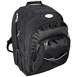 Lightpak Advantage Backpack with Detachable Laptop Sleeve / 17 inch Capacity / Nylon / Black