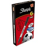 Image of Sharpie Permanent Marker / Fine / Black / Pack of 12