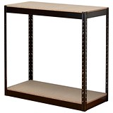 Image of Influx Heavy-duty Storage Shelving Unit / Boltless / 2 Shelves / W950mm Wide / Black