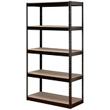 Influx Heavy-duty Storage Shelving Unit / Boltless / 5 Shelves / 1880mm Height x 950mm Width / Black