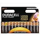 Image of Duracell Plus Power Alkaline Battery / 1.5V / AA / Pack of 12