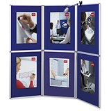Nobo Pro-Panel Display with Bag - 6 Blue Panels & White Frame