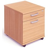 Image of Trexus Mobile Filing Pedestal / 2-Drawer / Beech