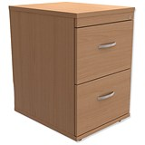 Image of Trexus 2-Drawer Filing Cabinet / Foolscap / Beech