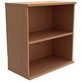Image of Trexus Low Bookcase with Adjustable Shelf - Beech