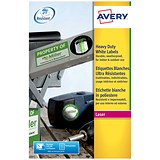 Image of Avery Heavy Duty Laser Labels / 24 per Sheet / 63.5x33.9mm / White / L4773-20 / 480 Labels