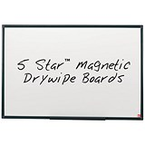 5 Star Lightweight Magnetic Drywipe Board / Detachable Pen Tray / W1200xH900mm