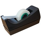 Image of 5 Star Desktop Tape Dispenser / Capacity: 19mm Width, 33m Length / Black