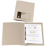Image of 5 Star Flat File / Recycled / 285gsm / 38mm / Foolscap / Buff / Pack of 50
