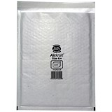 Image of Jiffy Airkraft No.4 Bubble-lined Postal Bags / 240x320mm / Peel & Seal / White / Pack of 10