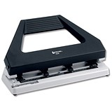 Rexel 420 Hole Punch / Adjustable with 4 Dies / Black and Grey / Punch capacity: 30 Sheets