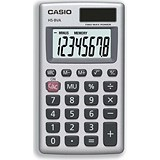 Image of Casio Calculator Handheld Battery/Solar-power 8 Digit 3 Key Memory 57x102x8mm Ref HS8V-S-U-H