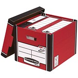 Image of Fellowes Premium 726 Archive Bankers Box / Red & White / Pack of 10