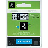 Image of Dymo D1 Tape for Electronic Labelmakers 9mmx7m Black on Clear Ref 40910 S0720670