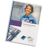 Image of GBC Report Covers / Front: Clear PVC / Back: White Leathergrain / A4 / Pack of 25x2