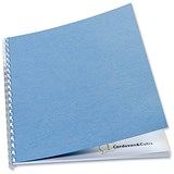Image of GBC Antelope Binding Covers / 250gsm / A4 / Leathergrain / Blue / Pack of 100