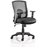 Influx Task Mesh Back Chair - Black