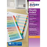 Image of Avery ReadyIndex Dividers Mylar Tabs / A4 / 1-10