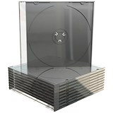 Slimline Jewel CD Case for 1 Disk / Clear / Pack of 50