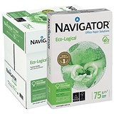 Image of Navigator Eco-logical A4 FSC Paper / Bright White / 75gsm / Box (5 x 500 Sheets)