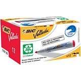 Image of Bic Velleda 1701 Whiteboard Marker / Bullet Tip / Red / Pack of 12