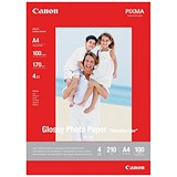 Image of Canon A4 GP/501 Glossy Photo Paper / White / 170gsm / Pack of 100 Sheets