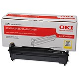 Image of Oki 43460205 Yellow Laser Drum Unit