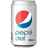 Image of Diet Pepsi - 24 x 330ml Cans
