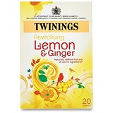 Twinings Infusion Lemon and Ginger Tea Bags / Individually-wrapped / Pack of 20