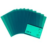 5 Star Cut Flush Folders / A4 / Copy-safe / Green / Pack of 25