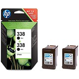 HP 338 Black Ink Cartridge (Twin Pack)