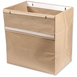 Image of Rexel Recyclable Paper Shredder Sack 40 Litre Ref 1765029EU [Pack 20]