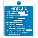 Image of Stewart Superior Sign First Aid Sign W230xH195mm Self-adhesive Vinyl Ref KS006SAV