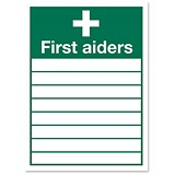 Image of Stewart Superior Sign First Aiders W355xH255mm Self-adhesive Vinyl Ref KS007SAV