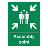 Stewart Superior Fire Assembly Point Sign W400xH600mm Polypropylene