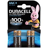 Duracell Ultra Power MX2400 Alkaline Battery / 1.5V / AAA / Pack of 4