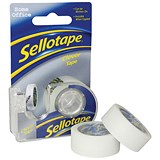 Image of Sellotape Clever Tape Dispenser Rolls / Write-on, Tearable / 18mmx25m / Matt / Pack of 6