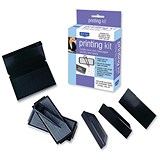 Image of Dormy Printing Kit - Rubber Type, Tweezers, 3 Holders & Stamp Pad