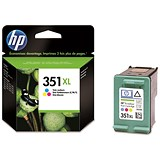 Image of HP 351 High Yield Colour Ink Cartridge