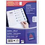 Image of Avery IndexMaker Dividers / 6-Part / Clear Tabs / A4 / White