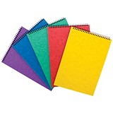 Headbound Notepad Ruled / 298x210mm / 120 Pages / Colour Assortment A / Pack of 10