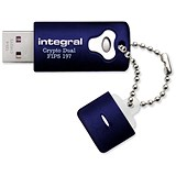 Image of Integral Crypto Dual Flash Drive / USB 2.0 / FIPS 197 / 256-bit Encryption / 4GB