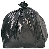 Image of 5 Star Bin Bags / 72 Gauge / 95 Litre / 465x260x960mm / Black / Pack of 200