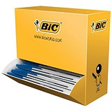 Bic Cristal Ball Pen / Clear Barrel / Blue / Pack of 100