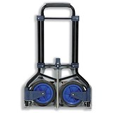 Image of 5 Star Folding Hand Trolley / Capacity 70kg / Black and Blue